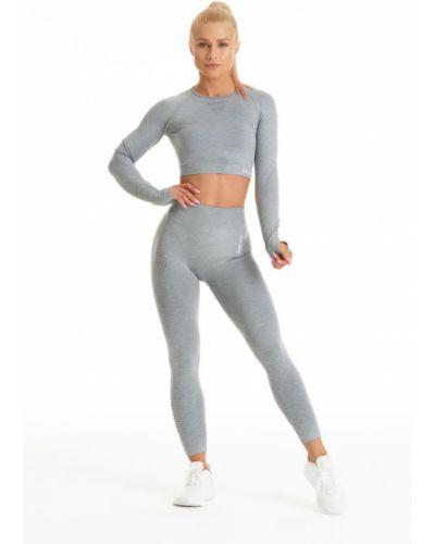 Серые брюки на резинке с поясом с открытым носком Gym Hero