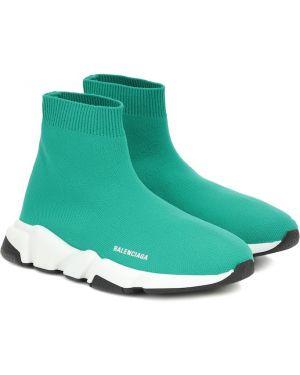 Sneakersy turkus Balenciaga Kids
