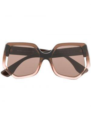 Коричневые солнцезащитные очки Miu Miu Eyewear
