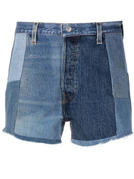 Джинсовые шорты - синие Re/done