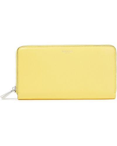 Кожаный кошелек - желтый Serapian