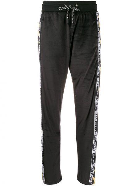 Черные спортивные брюки с воротником Roberto Cavalli