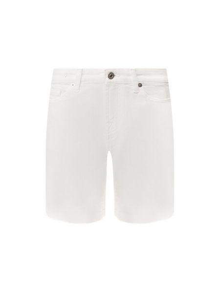 Джинсовые шорты короткие с карманами 7 For All Mankind