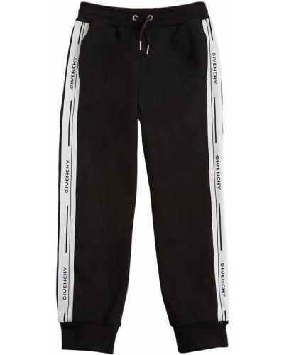 Bawełna czarny joggery z kieszeniami z mankietami Givenchy