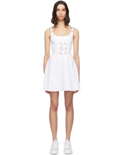 Джинсовое платье с воротником с отложным воротником Versace Jeans Couture