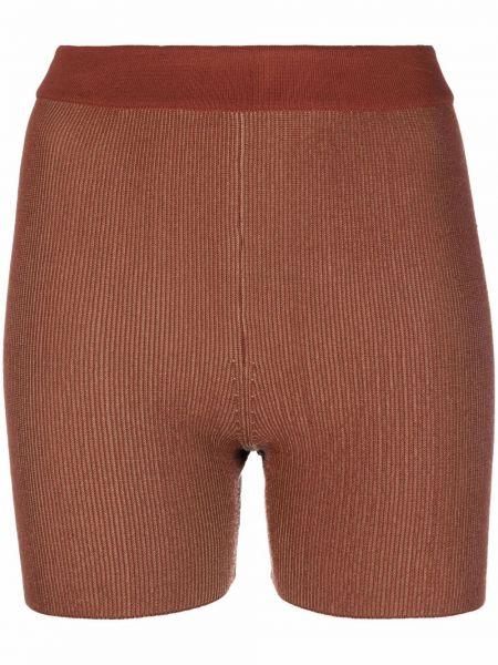 Коричневые шорты из вискозы Jacquemus