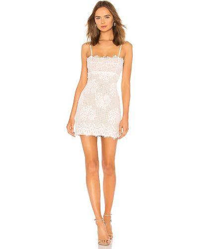 Sukienka koronkowa - biała Majorelle