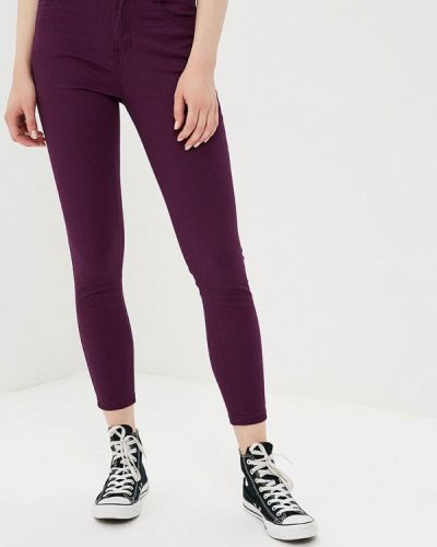 Фиолетовые брюки зауженные Befree