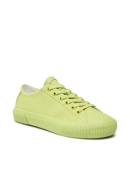 Buty sportowe skorzane - żółte Ted Baker