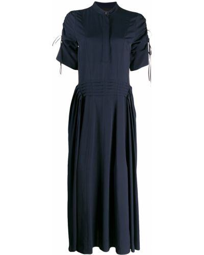 Платье мини на пуговицах со складками Cedric Charlier
