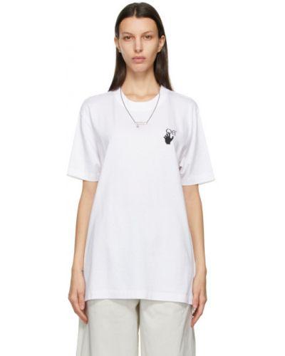 Bawełna z rękawami czarny koszula Off-white