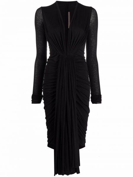 Хлопковое платье макси - черное Rick Owens Lilies