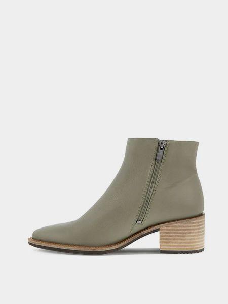 Ботильоны на каблуке - зеленые Ecco