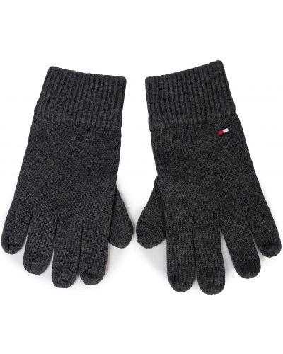 Rękawiczki wełniany szary Tommy Hilfiger