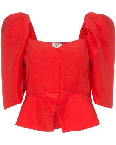 Блузка с пышными рукавами красная Maryam Nassir Zadeh