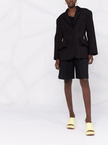 Черный шерстяной пиджак Jacquemus