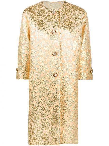 Оранжевое однобортное пальто для полных Dolce & Gabbana