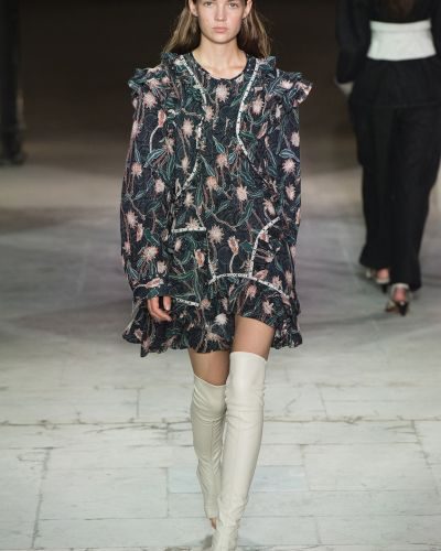 Платье мини с цветочным принтом батистовое Isabel Marant