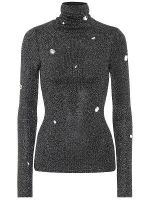 Szary sweter perły z wiskozy Christopher Kane