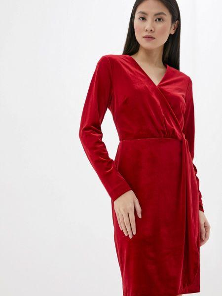 Однобортное красное платье Madeleine