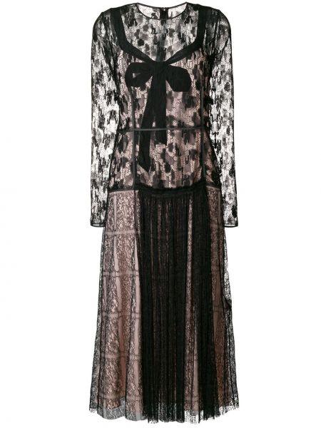 Платье миди розовое из фатина Bottega Veneta