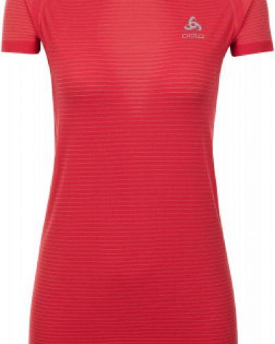 Спортивная футболка приталенная красный Odlo