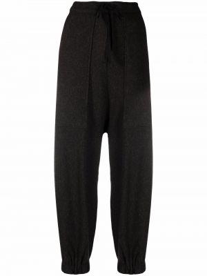 Коричневые брюки с накладными карманами Alessia Santi