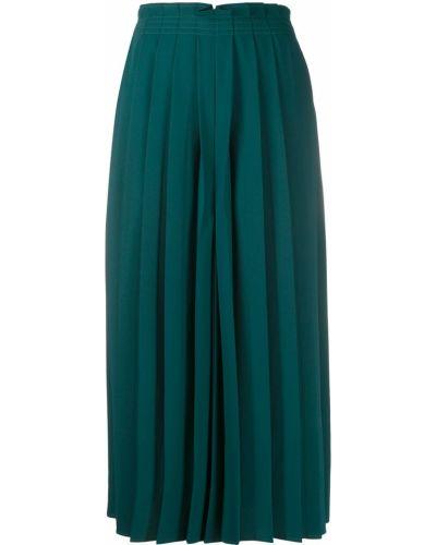 Zielony bezpłatne cięcie spodnie culotte bezpłatne cięcie Mm6 Maison Margiela