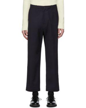 Прямые брючные прямые брюки с поясом новогодние Studio Nicholson