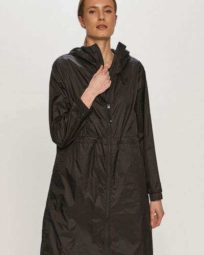 Czarna kurtka z kapturem materiałowa 4f