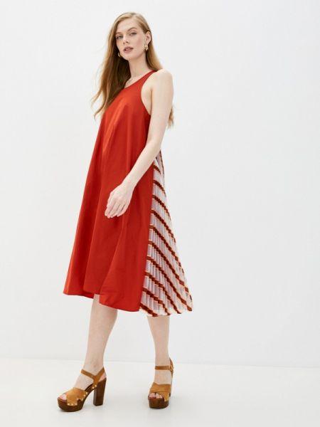 Повседневное платье весеннее красный Max&co