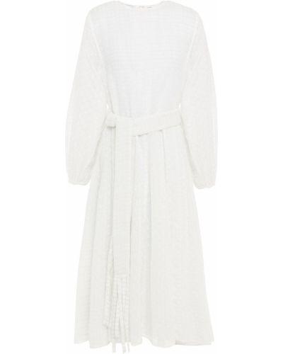 Biała sukienka midi bawełniana Rhode