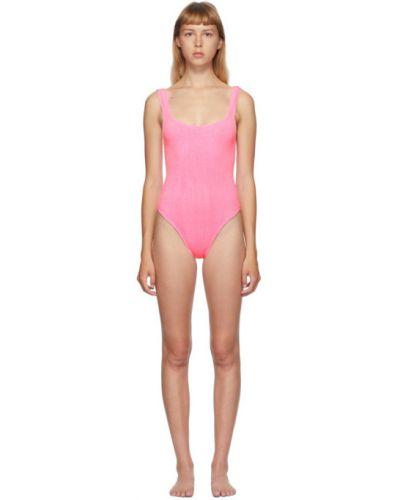 Розовый купальник на шею квадратный Hunza G