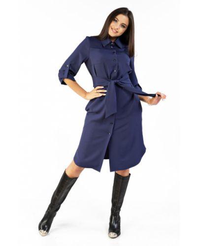 Нарядное с рукавами платье миди с разрезом Mari-line