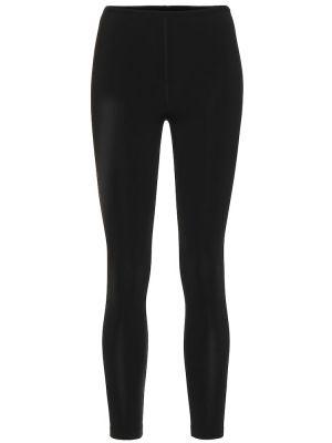 Черные брюки стрейч из штапеля Alaïa