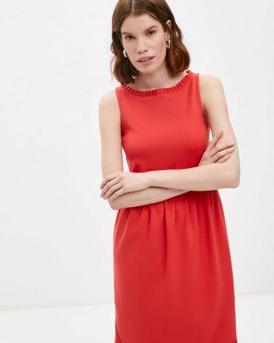 Повседневное красное платье Emporio Armani
