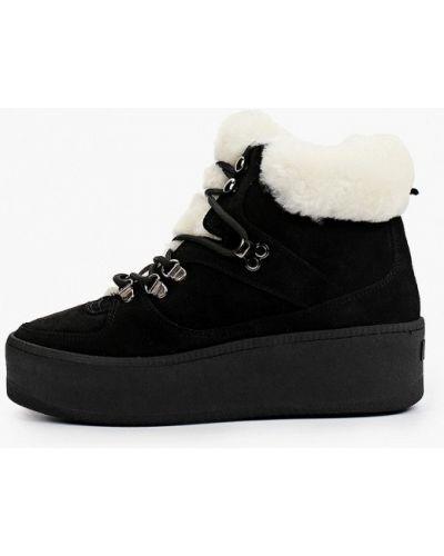 Черные резиновые ботинки Roobins