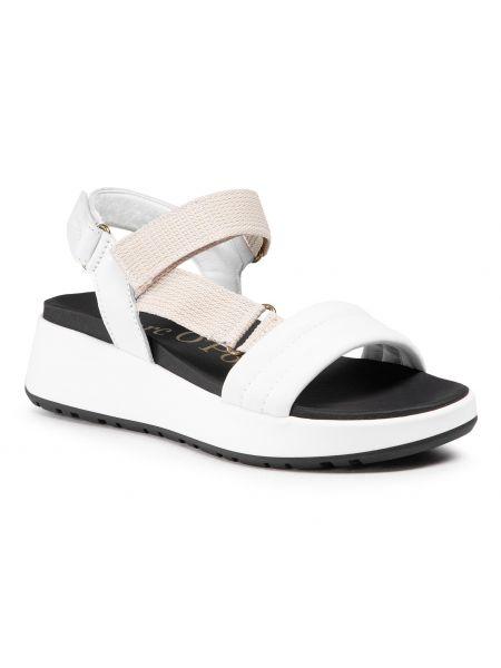 Sandały skórzane - białe Marc O'polo