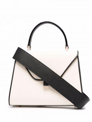 Biała torba na ramię skórzana Valextra