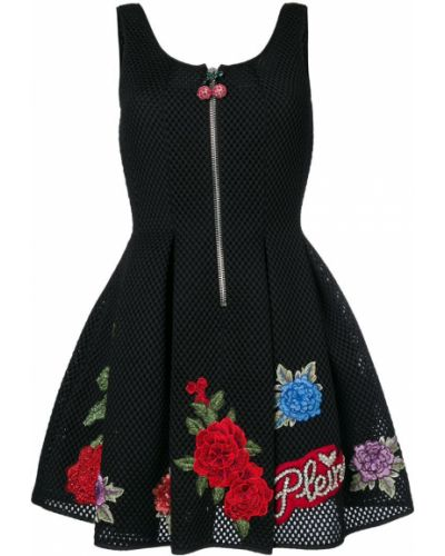Платье с цветочным принтом пышное Philipp Plein