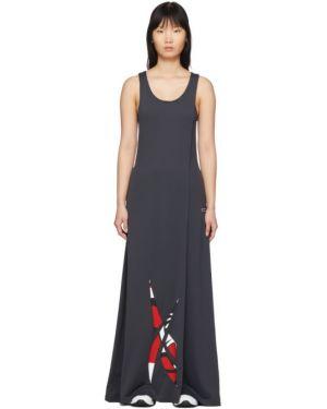 Костюмное платье макси с вышивкой с воротником Reebok By Pyer Moss