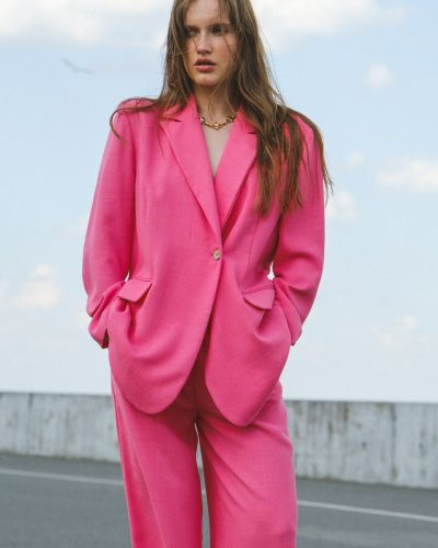 Пиджак оверсайз - розовый Xodo
