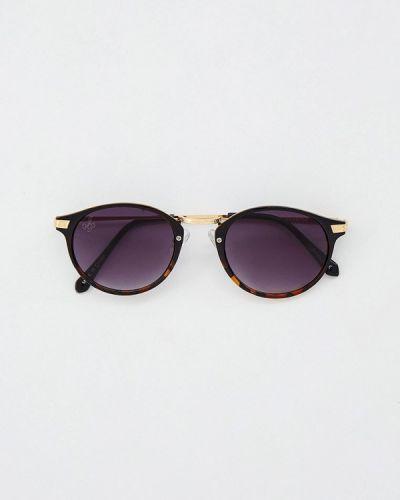 Коричневые солнцезащитные очки круглые Jeepers Peepers
