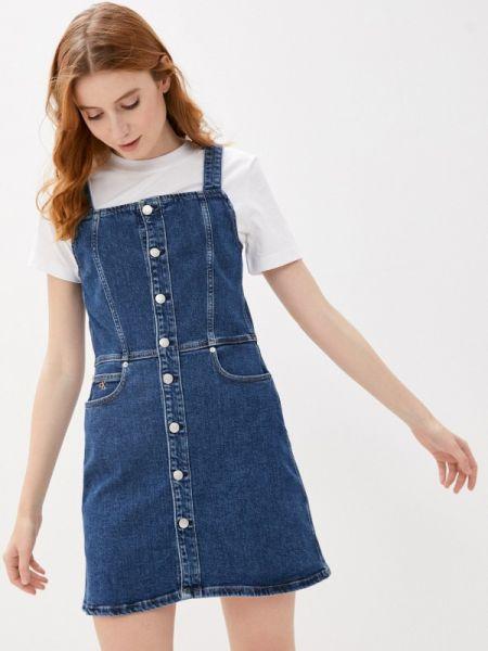 Синее джинсовое платье Calvin Klein Jeans