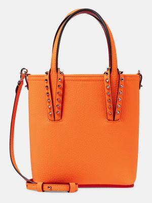 Pomarańczowa torba na ramię skórzana Christian Louboutin