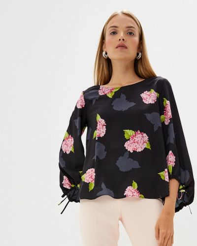 Блузка с длинным рукавом черная French Connection