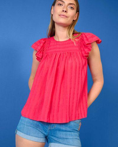 Bluzka koronkowa - czerwona Orsay