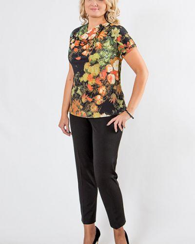 Блузка с коротким рукавом с цветочным принтом из вискозы Virgi Style