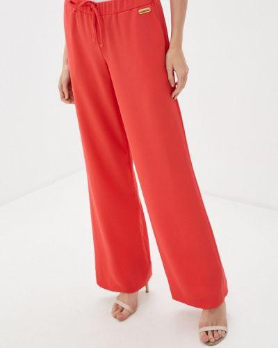 Повседневные коралловые брюки Trussardi Collection