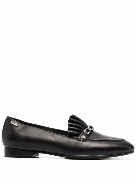 Loafers na obcasie - czarne Karl Lagerfeld